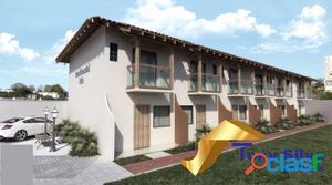 Lançamento casas 2 quartos em condomínio no Jardim