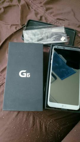 Smartphone G6 LG platinum 32GB novo