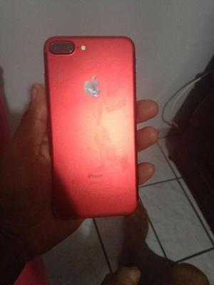 Vendo ou troco iPhone 7 Plus cor red