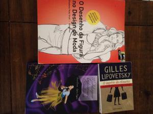 3 livros Desenho, modelagem e literatura de moda