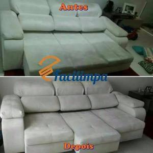 Faça em casa a limpeza/ lavagem do seu sofá, colchão,