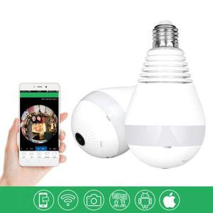 Lampada de led bulbo com câmera escondida 360° wifi