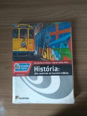 Livro didático de História (encapado): das cavernas ao