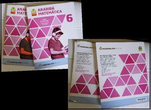 Livros de Matemática 6 série. Araribá, editora Moderna