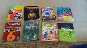 Livros usados do 6 Ano