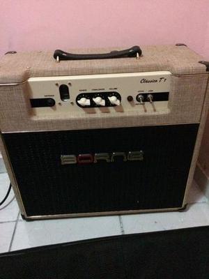 Amplificador Cubo Valvulado Borne Classico T7 Palha