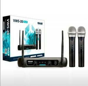 Microfone Sem Fio Duplo VWS-20 Plus Bivolt - Vokal ? VHF
