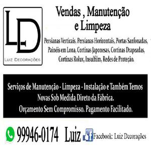 serviços de manutenção e lavagem de persianas