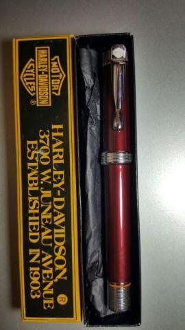 Caneta tinteiro comemorativa harley davidson