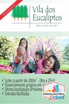 Lotes de 240m2 - Vila dos Eucaliptos em Salto/SP