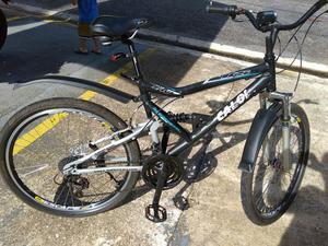 Bike caloi em alumínio com amortecedor