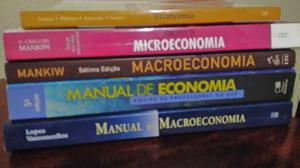 Combo de livros de economia, macro e micro Economia