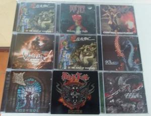 Lote com 10 cds de Heavy metal (Importado)