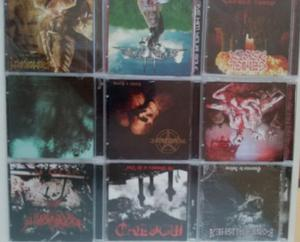 Lote com 10 cds de death/black metal nacional