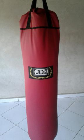 Saco de pancada punch vermelho 120 cm 80Kg