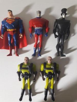 5 Figuras Justice League Unlimited Liga Da Justiça Superman