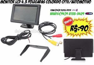 Monitor Lcd 4.3 Polegadas Colorido Cftv/automotivo
