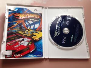2 jogos de Nintendo Wii Hotwheels e Link's Crossbow