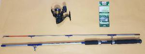 Kit de Pesca: 1 Vara +1 Molinete Marine Sports + Sabiki