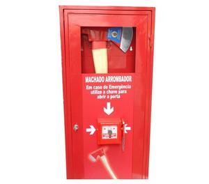 Caixa quebra vidro para chave de emergência