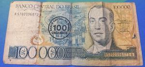 Cédula Colecionador 100 e 500 mil Cruzeiros
