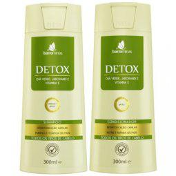 Kit Shampoo E Condicionador Detox 300ml Low Poo Barrominas