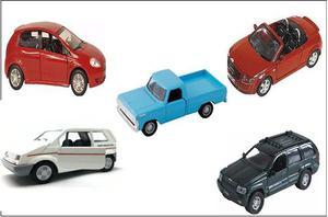 Lote de carro miniaturas