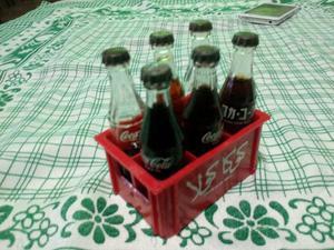 Miniaturas Coca Cola de vidro