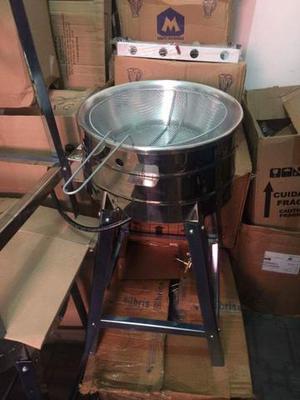 Fritadeira, Batateira, Pasteleira em Inox a gás 5 Litros