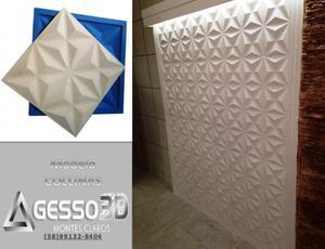 Gesso 3D Montes Claros, placas de gesso e cimentícia com