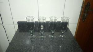 Jogo de 4 taças de vidro novo