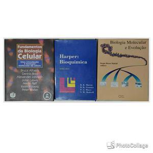 Livros de Biologia Celular, Biomol e Bioquímica - Leve 3