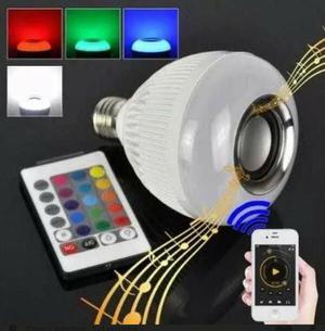 Lâmpada de led com caixinha de som acoplado e Bluetooth
