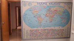 Painel parede Mapa Mundi Grande