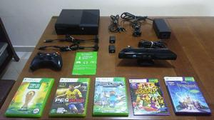 XBOX 360 Super Slim em ótimo estado + Kinect + 5 Jogos
