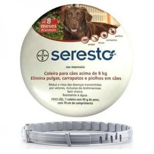 Coleira anti pulgas Seresto p/ gatos - Aberta