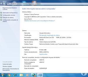 Notebook Acer Aspire  Z - usado