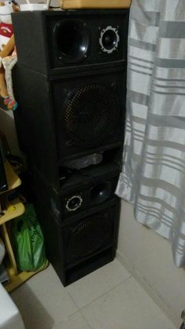 2 Caixa de som com alto falante de 12 de 300 wts