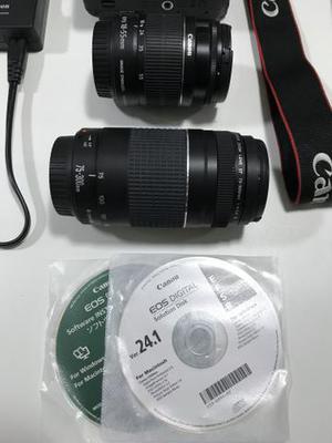 Canon EOS Rebel T3i - Bolsa - 2 Lentes - Tripé e cartão de