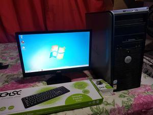 Computador Dell completo core 2 duo 4gb 400gb de hd