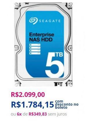 HD Interno | Seagate | Enterprise Nas HDD | 5TB | MPN:
