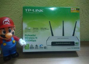 Roteador tp-link caixa +NF + Super antenas