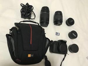 Kit Canon T5i Com 3 Lentes, Adaptadores, Bolsa E Sd 32g