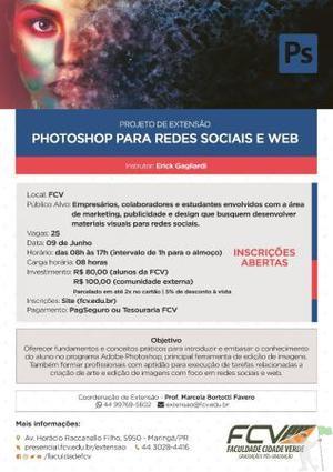 Curso Photoshop para redes soiais e web - 8hrs
