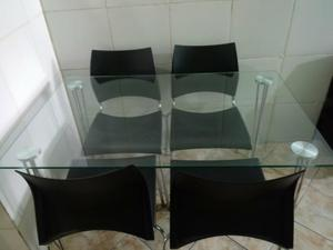 Conjunto 1 mesa com 4 cadeiras