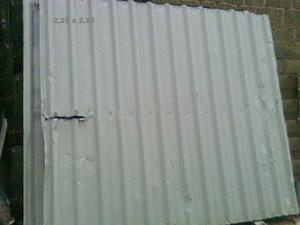Portão chapa de alumínio 2,30 x 2,60