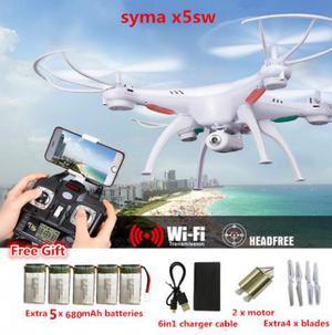 Drone Quadricóptero Syma X5sw Com Câmera 2.0 MP Wifi Fpv