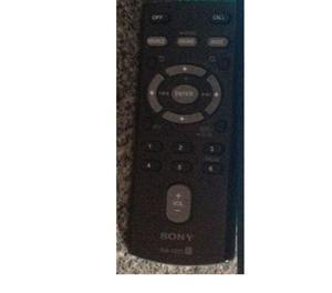 Controle Remoto Do Som Automotivo Sony Xplod Mex-btu!