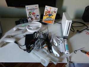 Nintendo wii desbloqueado + hd 320gb 80 jogos
