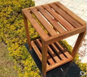 Banco multifunção rustico em madeira maciça novo em